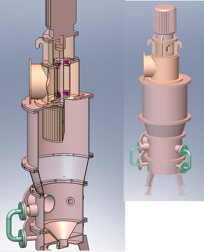 mql立式气流磨内部结构示意图